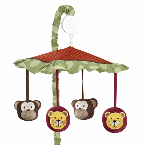 Jungle Time Musical Baby Crib Mobile by Sweet Jojo Designs - Click to enlarge