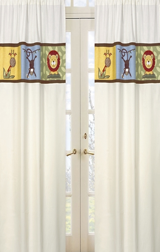 Jungle Time Window Treatment Panels - Set of 2 - Click to enlarge