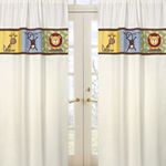 Jungle Time Window Treatment Panels - Set of 2