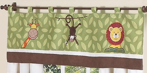 Jungle Time Window Valance by Sweet Jojo Designs - Click to enlarge
