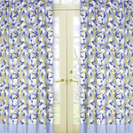 Khaki and Blue Camo Window Treatment Panels - Set of 2