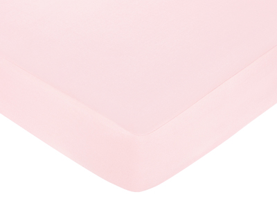Khaki and Pink Camo Fitted Crib Sheet for Baby and Toddler Bedding Sets by Sweet Jojo Designs - Solid Pink - Click to enlarge