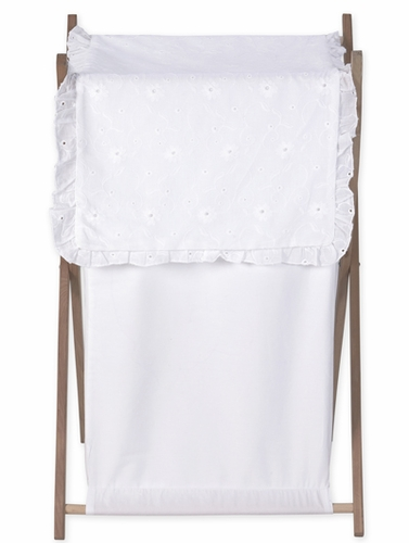 White Eyelet Bedding Set Matching Laundry Hamper By Jojo