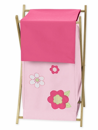 Kids Laundry Hamper For The Pink And Green Flower By Sweet