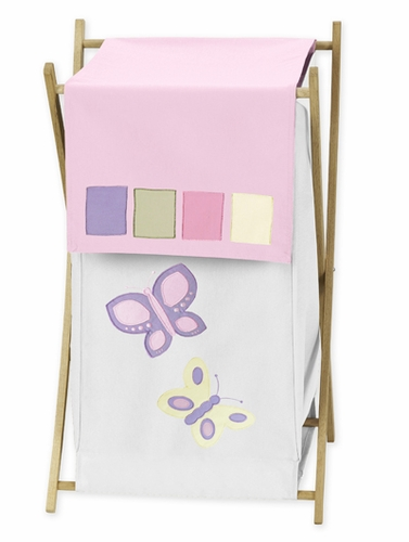 Kids Laundry Hamper for the Pink and Purple Butterfly by Sweet Jojo Designs - Click to enlarge