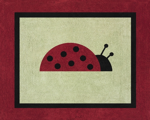 Ladybug Parade Accent Floor Rug - Click to enlarge