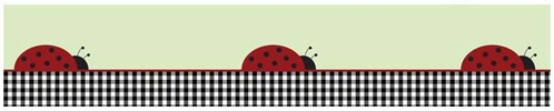 Ladybug Parade Baby and Kids Wall Border by Sweet Jojo Designs - Click to enlarge