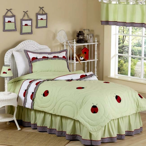 Ladybug Parade Bug Childrens Bedding - 3pc Full / Queen Set - Click to enlarge