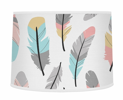 Lamp Shade for Feather Collection by Sweet Jojo Designs - Click to enlarge