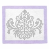 Lavender and Gray Elizabeth Accent Floor Rug by Sweet Jojo Designs