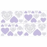 Lavender and Gray Elizabeth Baby, Childrens and Kids Wall Decal Stickers by Sweet Jojo Designs - Set of 4 Sheets