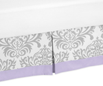 Lavender and Gray Elizabeth Bed Skirt for Toddler Bedding Sets by Sweet Jojo Designs