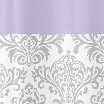 Lavender And Gray Elizabeth Kids Bathroom Fabric Bath Shower Curtain By Sweet Jojo Designs Only 3999