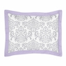 Lavender and Gray Elizabeth Pillow Sham by Sweet Jojo Designs