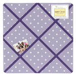 Lavender and Purple Sloane Fabric Memory/Memo Photo Bulletin Board