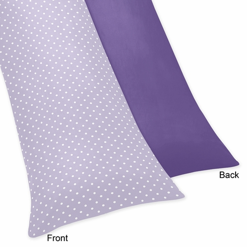 Lavender and Purple Sloane Full Length Double Zippered Body Pillow Case Cover - Click to enlarge