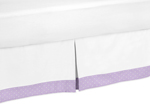 Lavender and White Suzanna Bed Skirt for Toddler Bedding Sets by Sweet Jojo Designs