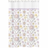 Lavender and White Suzanna Kids Bathroom Fabric Bath Shower Curtain by Sweet Jojo Designs