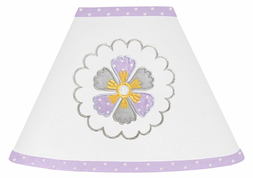 Lavender and White Suzanna Lamp Shade by Sweet Jojo Designs - Click to enlarge