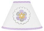 Lavender and White Suzanna Lamp Shade by Sweet Jojo Designs