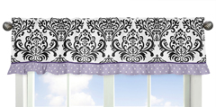Lavender, Purple, Black and White Sloane Collection Window Valance by Sweet Jojo Designs