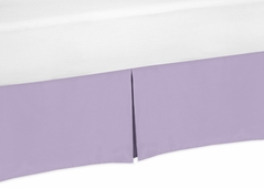 Lavender Purple Crib Bed Skirt for Baby Bedding Sets by Sweet Jojo Designs