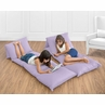 Lavender Purple Kids Teen Floor Pillow Case Lounger Cushion Cover by Sweet Jojo Designs