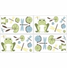 Leap Frog Peel and Stick Wall Decal Stickers Art Nursery Decor by Sweet Jojo Designs - Set of 4 Sheets