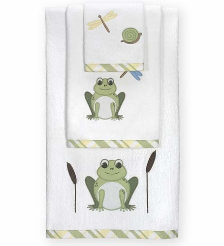 Leap Frog Baby and Kids Cotton Bath Towel Set - 3pc Set - Click to enlarge