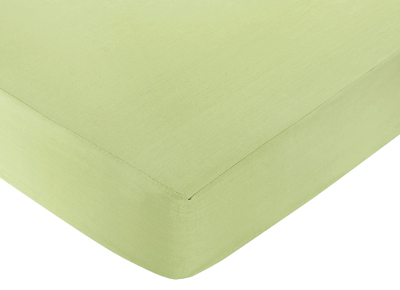Leap Frog Fitted Crib Sheet for Baby and Toddler Bedding Sets by Sweet Jojo Designs - Light Green - Click to enlarge