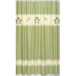 Leap Frog Kids Bathroom Fabric Bath Shower Curtain