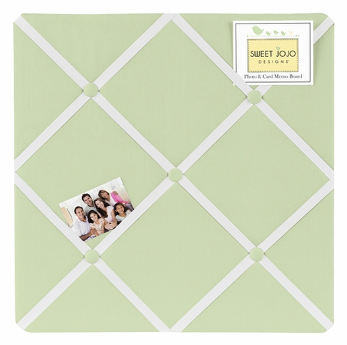Light Green Fabric Memory/Memo Photo Bulletin Board by Sweet Jojo Designs - Click to enlarge