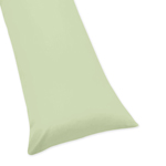 Light Green Full Length Double Zippered Body Pillow Case Cover