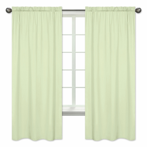 Light Green Window Treatment Panels by Sweet Jojo Designs - Set of 2 - Click to enlarge