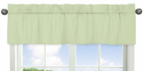 Light Green Window Valance by Sweet Jojo Designs - Click to enlarge