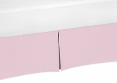 Light Pink Crib Bed Skirt for Baby Bedding Sets by Sweet Jojo Designs
