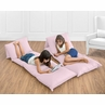 Light Pink Kids Teen Floor Pillow Case Lounger Cushion Cover by Sweet Jojo Designs