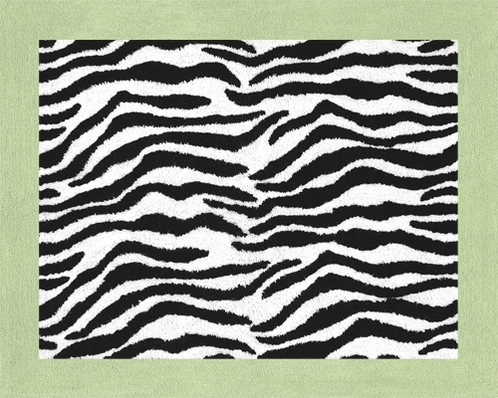 Lime Funky Zebra Accent Floor Rug - Click to enlarge