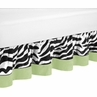 Lime Funky Zebra Bed Skirt for Toddler Bedding Sets