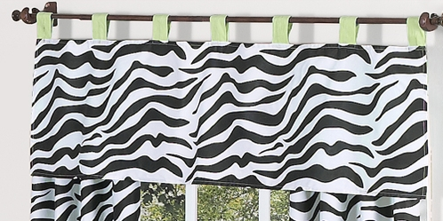 Lime Funky Zebra Window Valance by Sweet Jojo Designs - Click to enlarge