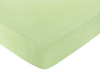 Lime Funky Zebra Fitted Crib Sheet - Lime - Click to enlarge