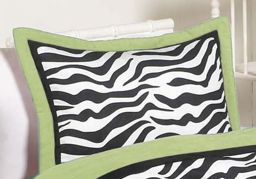 Lime Funky Zebra Pillow Sham - Click to enlarge