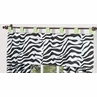 Lime Funky Zebra Window Valance by Sweet Jojo Designs