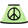 Lime Groovy Peace Sign Tie Dye Lamp Shade by Sweet Jojo Designs
