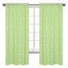 Lime Swirl Window Treatment Panels for Olivia Pink and Green Collection - Set of 2