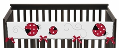 Little Ladybug Baby Crib Long Rail Guard Cover by Sweet Jojo Designs