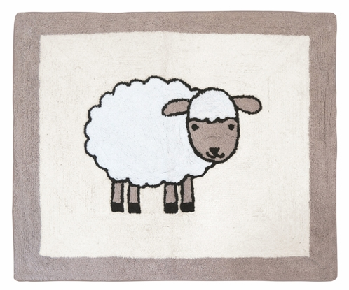 Little Lamb Accent Floor Rug by Sweet Jojo Designs - Click to enlarge