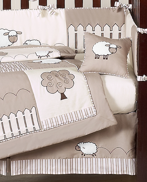 Little Lamb Baby Bedding 9pc Crib Set By Sweet Jojo Designs Only 189 99