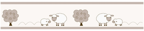 Little Lamb Children and Kids Modern Wall Border by Sweet Jojo Designs - Click to enlarge