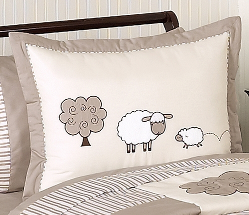Little Lamb Pillow Sham by Sweet Jojo Designs - Click to enlarge